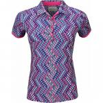 EP Pro Women's Tour-Tech Diagonal Geo Print Golf Shirts